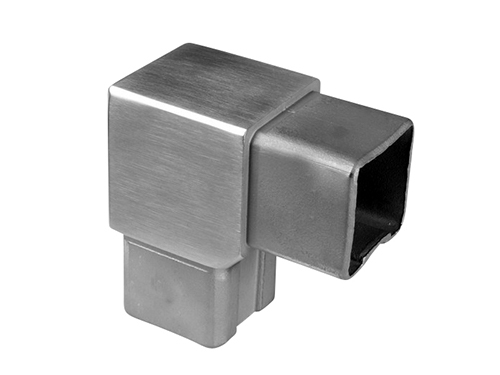 Tube bracket, 90°, square tube