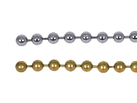 Ball chain, 5 m (brass/chrome)