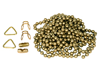 Ball chain kit, 2 m (brass/chrome)