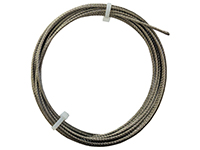 Cut wire 1 mm, 7 x 7 strands, stainless steel (10 m)