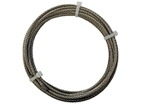 Cut wire 4 mm, 7 x 19 strands, stainless (5, 10, 30 m)