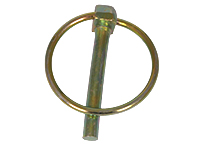 Linch pin, yellow chrome-plated