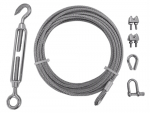 Cable kit free length 4 mm, tensioner, caus, lock (stainless)