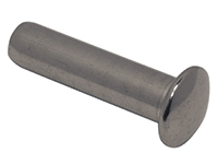 Cone terminal, rounded, stainless steel
