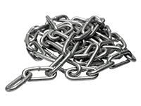 Chain, long link, DIN 763, galv.