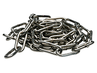 Chain, long link, DIN 763, stainless steel