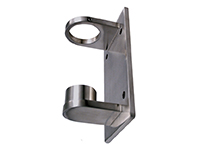 Wall bracket for round post, with fixed base plate