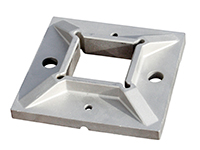 Base plate for square post, welded