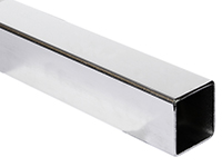 Square tube, acid-resistant AISI 316