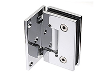 Hinge for glass door, 90 degrees