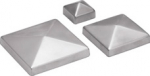 Post cap pyramidal, stainless steel