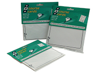Race cards, writeable (15-pack)