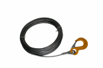 Winsch wire with hook 5mm