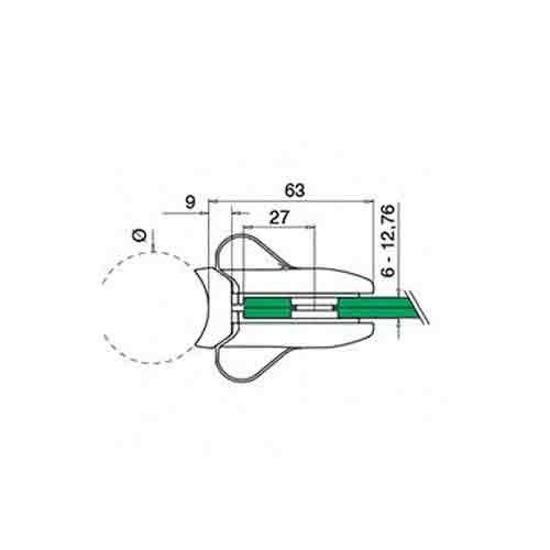 Door lock, model 28, round 42.4 (incl. 8.76 mm gasket